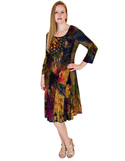 Palila Scoop Neck 3/4 Sleeve Dress