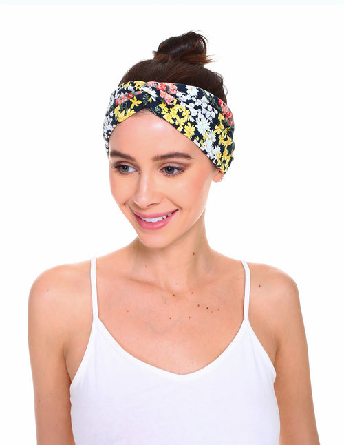 Floral Print Front Knot Headband