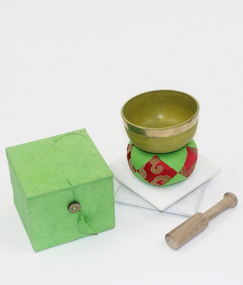 Green Singing Bowl Set