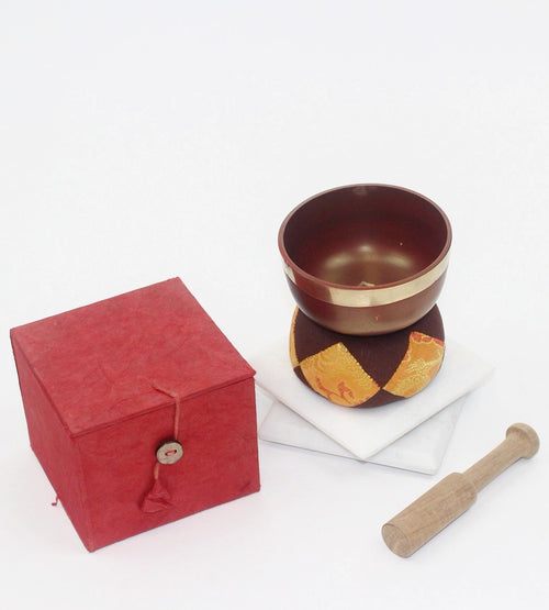 Red Singing Bowl Set