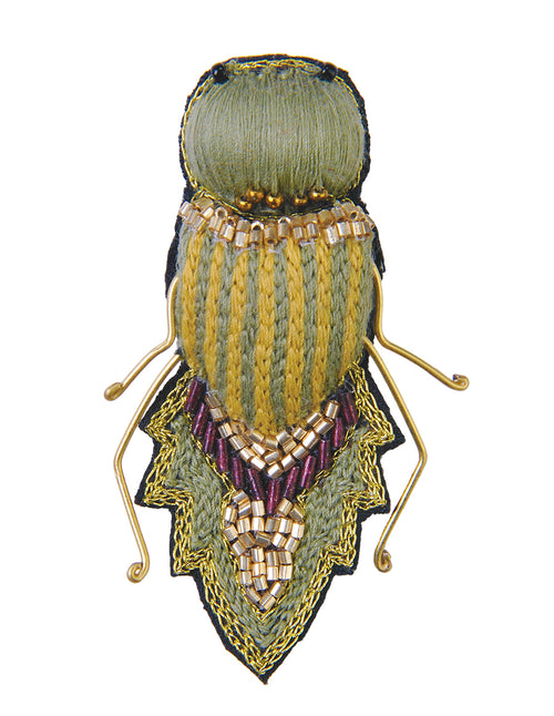 Leaf Hopper Insect Brooch