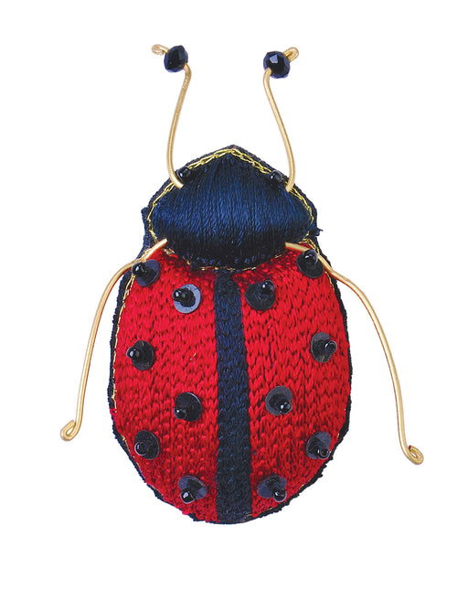 Lady Bug Insect Brooch