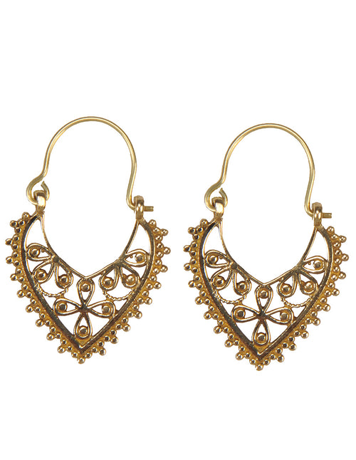 Filigree Teardrop Hoops