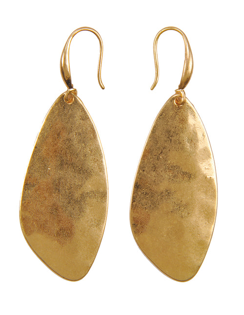 Hammered Finish Drop Earrings