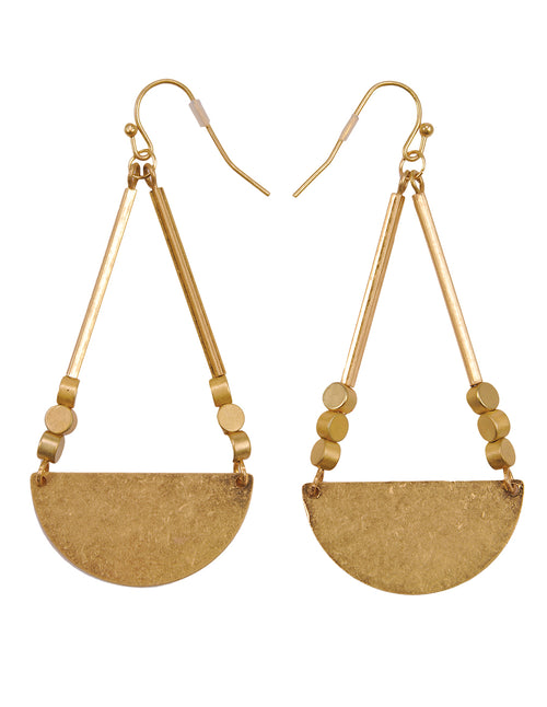 Boho Elegance Gold Drop Earrings