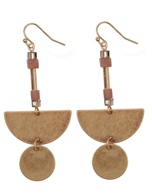 Geometric Shapes Drop Earrings
