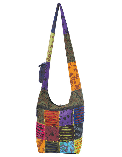Floral Patches Hobo Bag