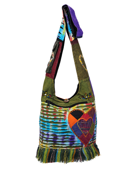 Hearts & Fringes Hobo Bag