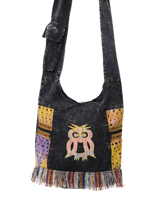 Owl Patch Hobo Bag