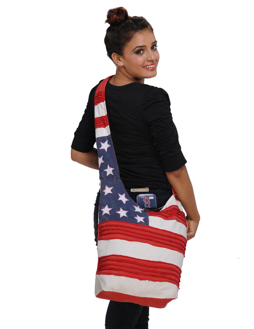 Stars & Stripes Cross Body Hobo Bag