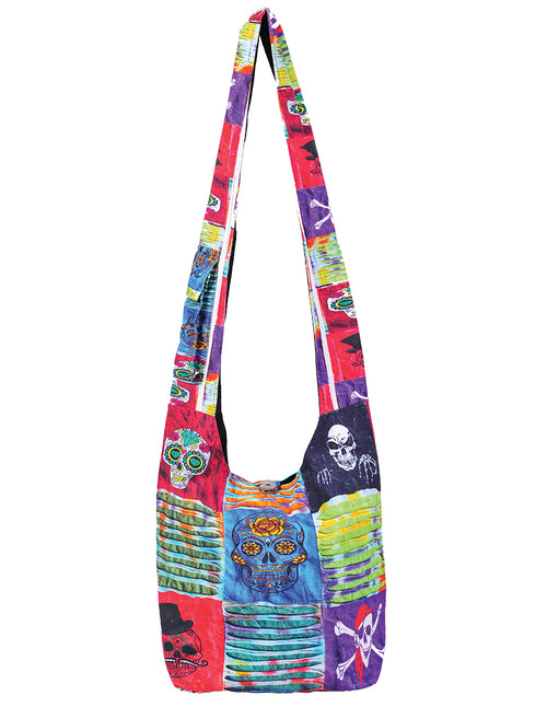 Printed Skull Hobo Bag