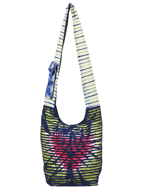 Heart Tie Dye & Rips Hobo Bag