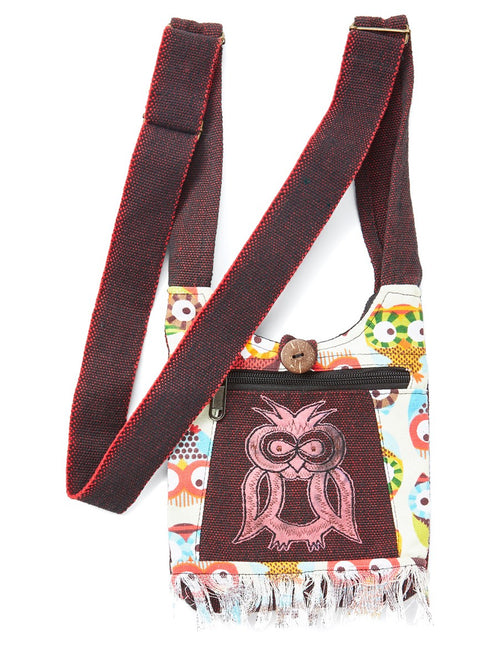 Owls & Fringe Mini Bag