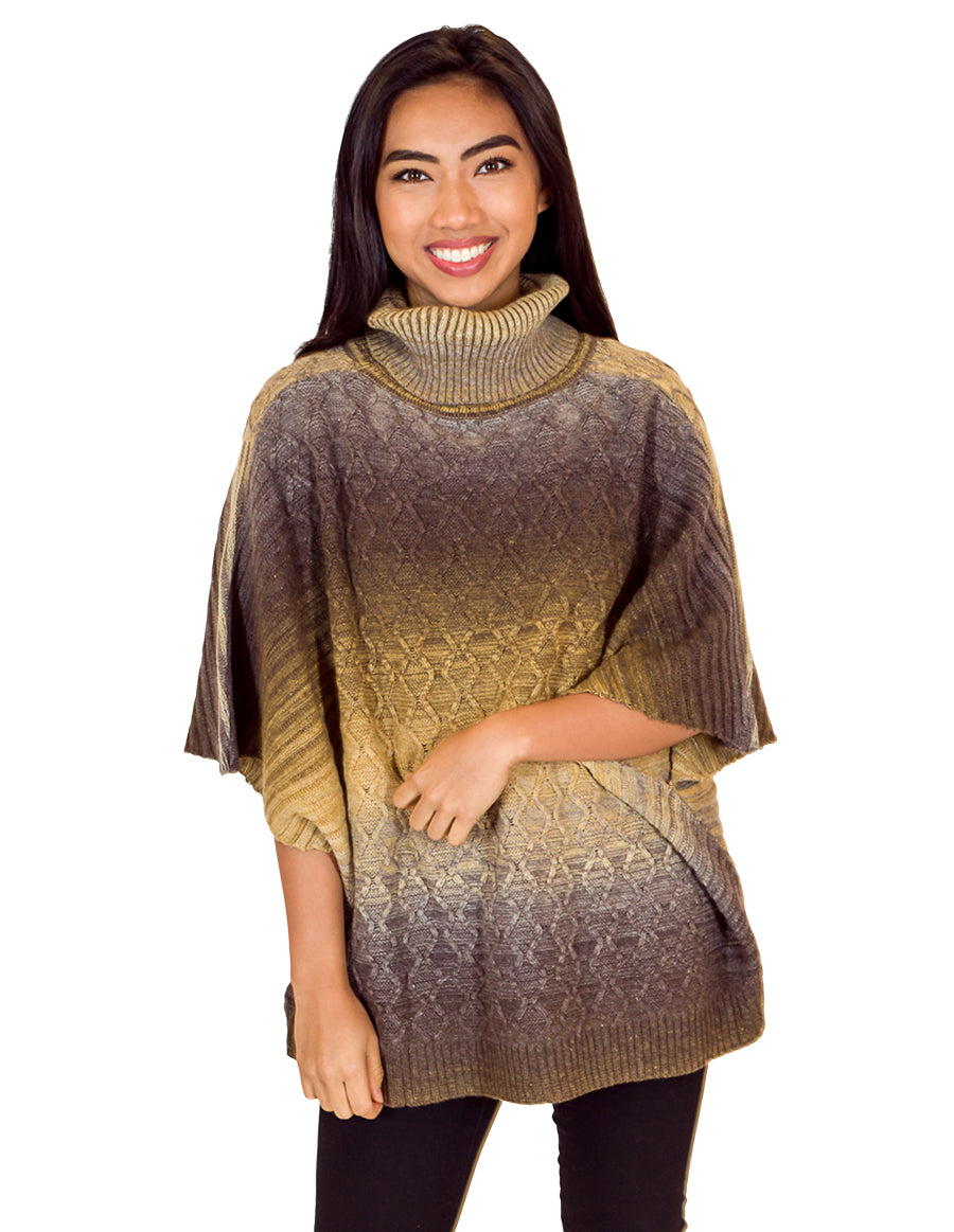 Palila Turtle Neck Poncho