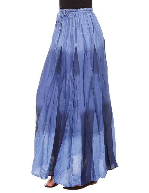 Crinkled Gradient Rayon Maxi Skirt