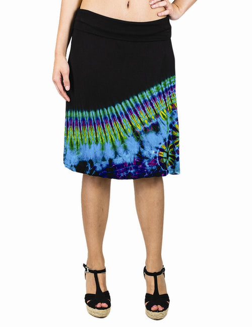 Tie Dye Straight Skirt