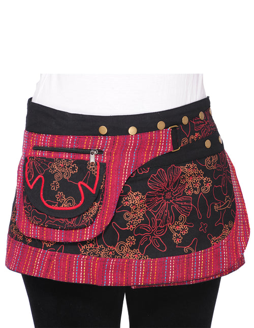 Snap On Wrap Skirt w' Fanny Pockets