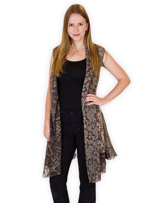 Palila Brown Lace Vest