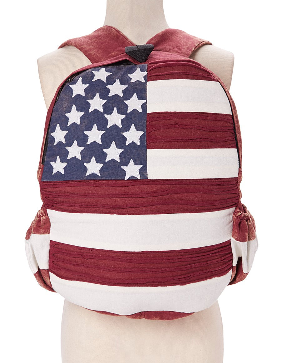 Red Stars and Stripes Backpack