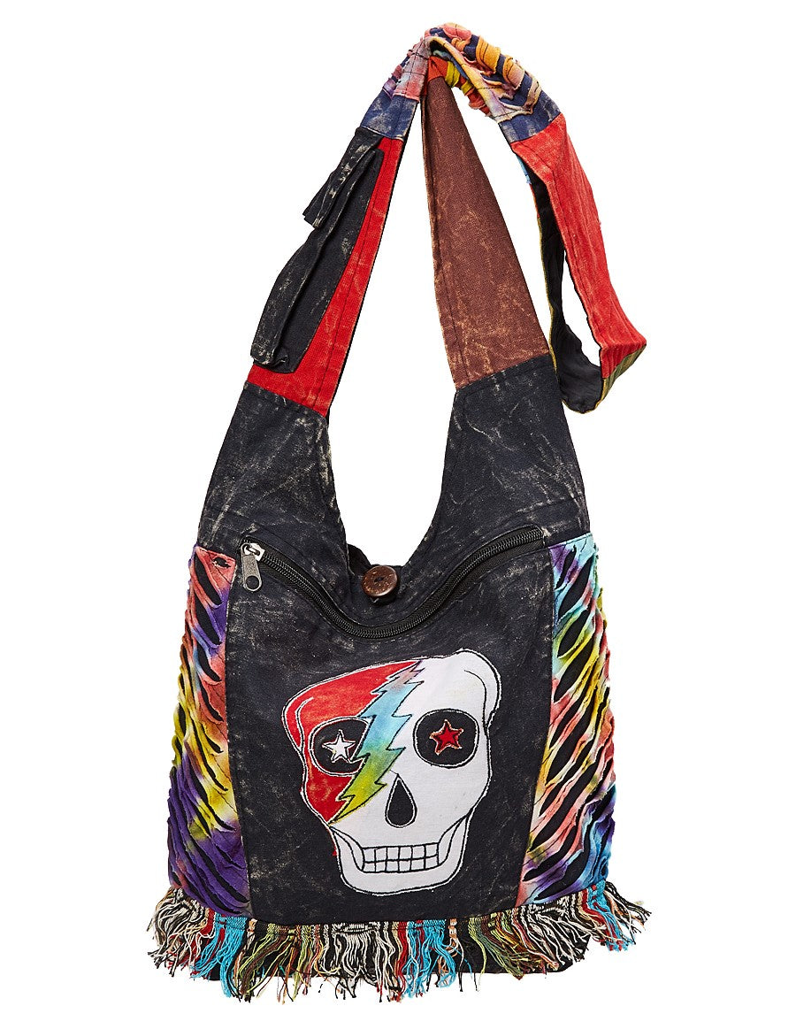 Flash Skull Patch Hobo Bag