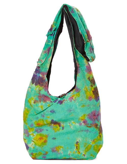 Green Tie Dye Hobo Bag