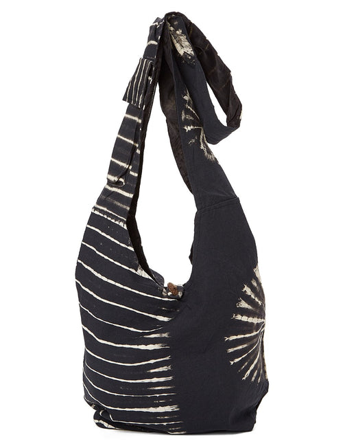 Black & Beige Tie Dye Bag