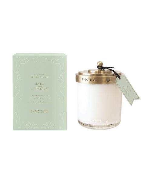 Basil & Geranium Fragrant Candle