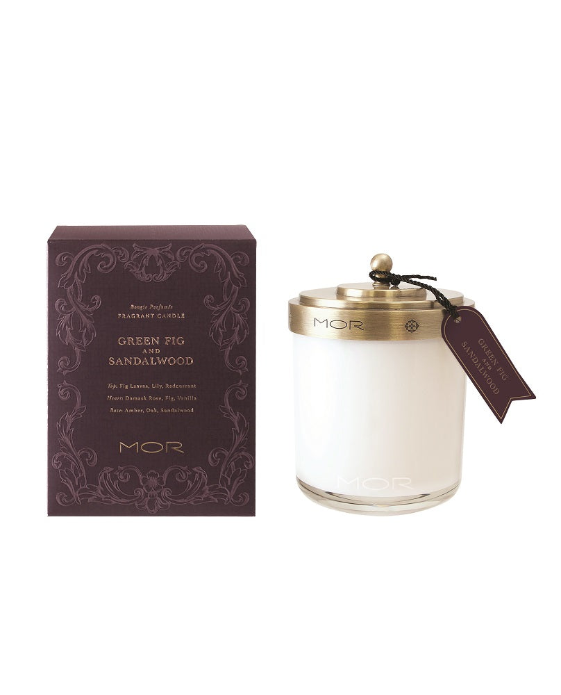 Green Fig & Sandalwood Fragrant Candle