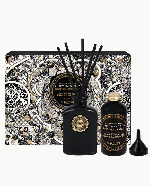 Snow Gardenia Reed Diffuser Set