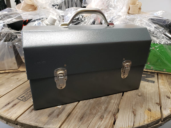 Pewter Hammertone Powder Coated Miners Lunch Box