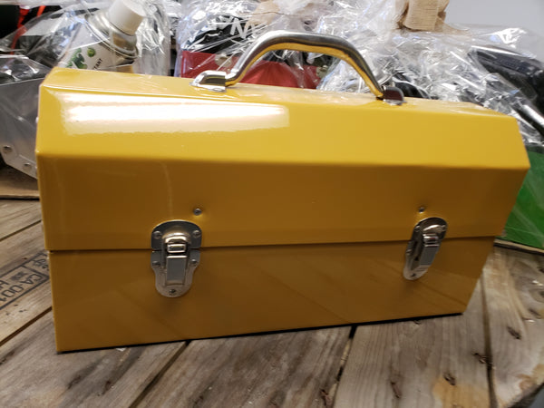 Caterpillar Yellow Powder Coated Miners Lunch Box