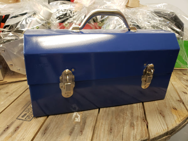 Dark Blue Powder Coated Miners Lunch Box