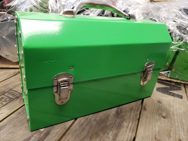 Safety Green Powder Coated Miners Lunch Box