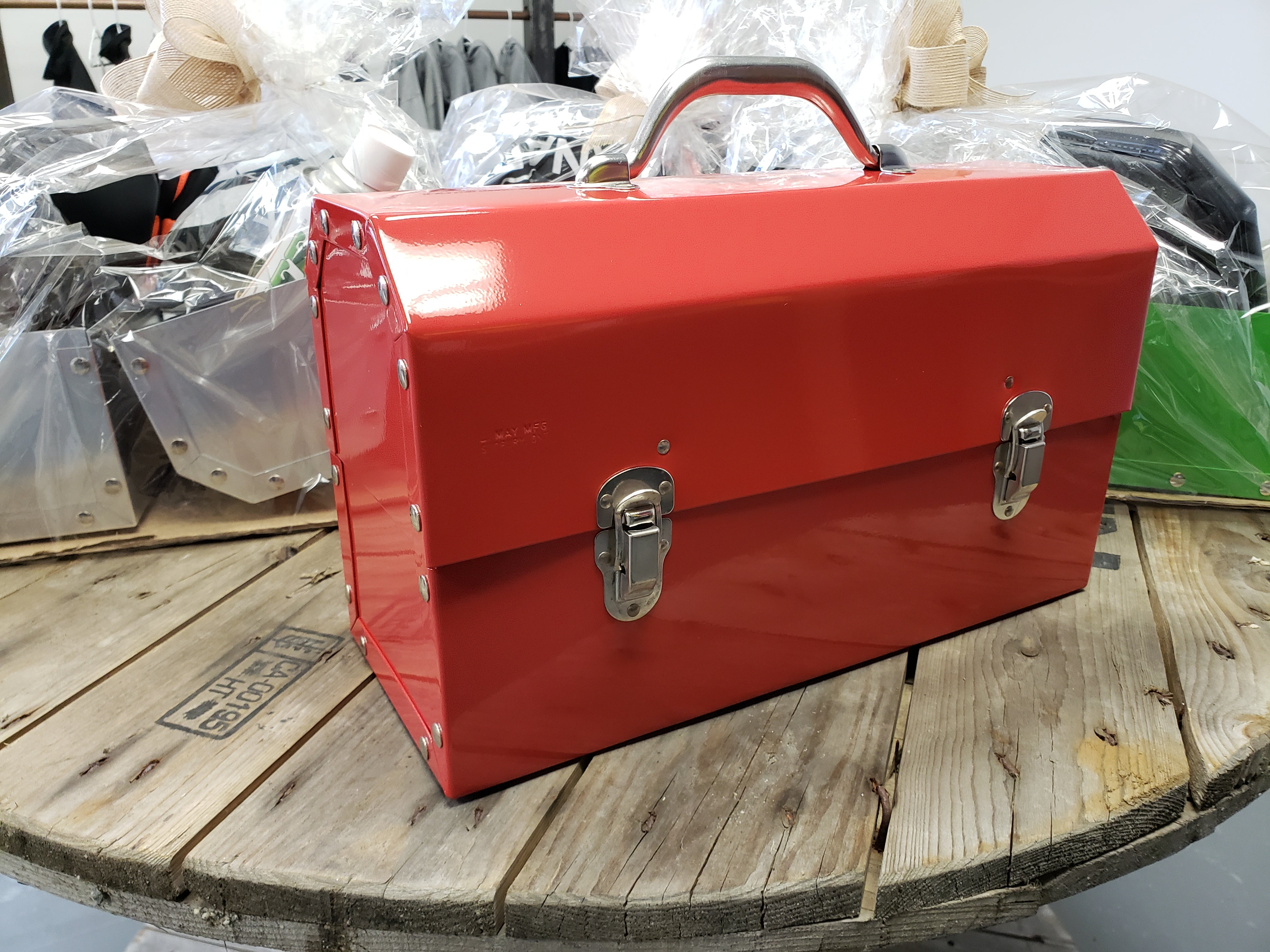 The Original Miners Lunchbox:Powder Coated:Fire Engine Red
