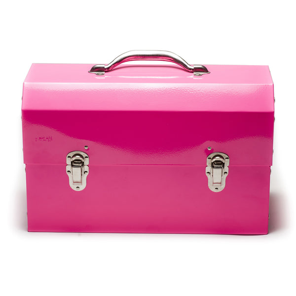The Original Miners Lunchbox:Powder Coated:Bubble Gum Pink