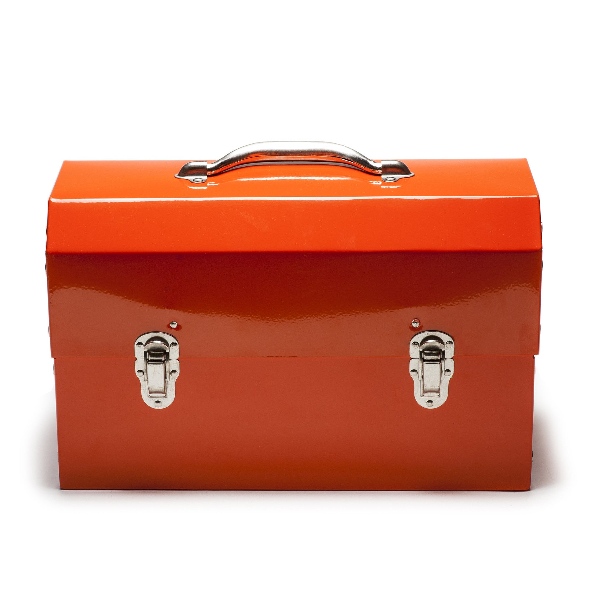 Safety Orange Powder Coated Miners Lunch Box