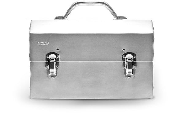 The Original Miners Lunchbox:Classic Polished Aluminum