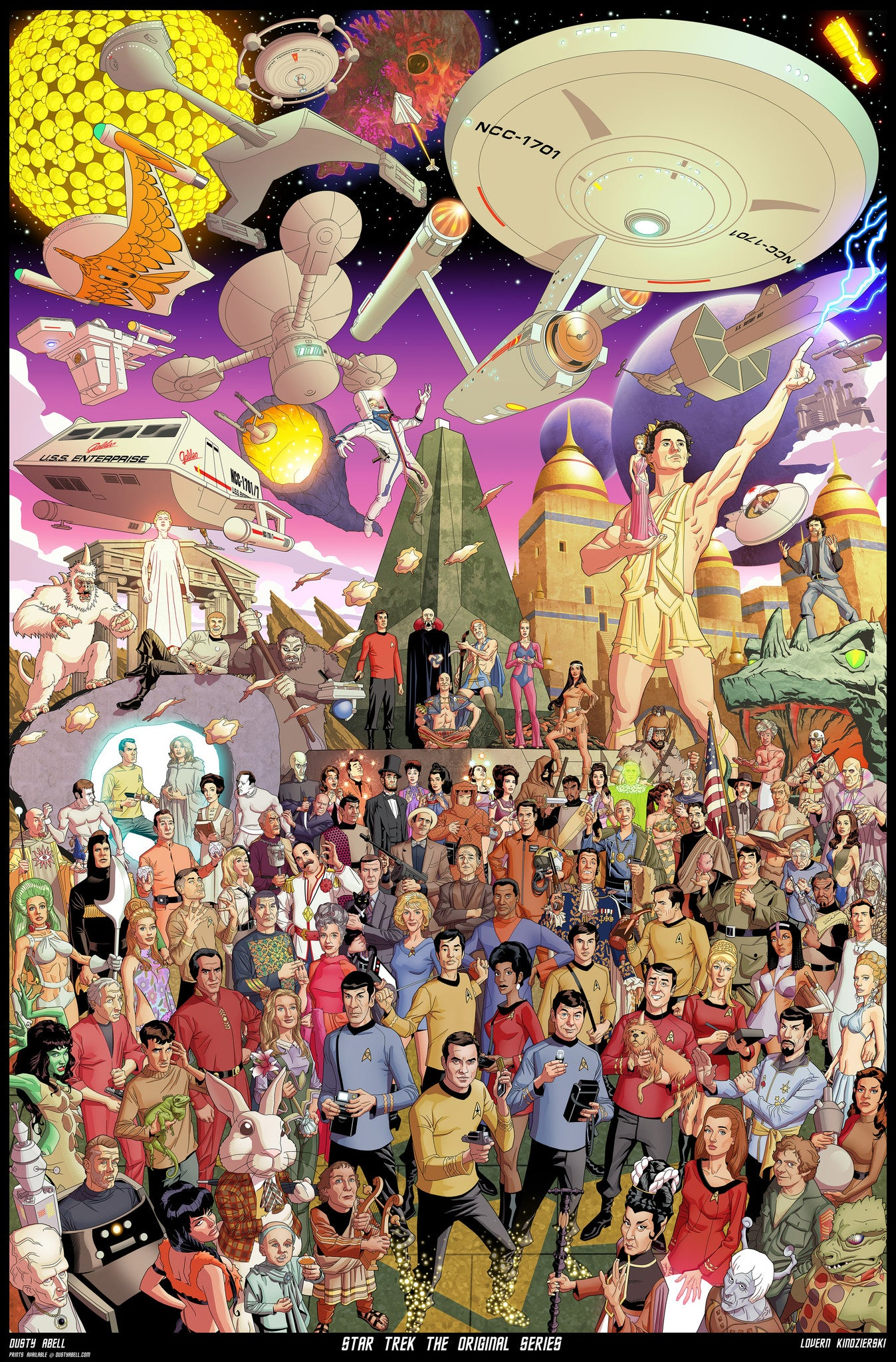 Star Trek The Original Series 50th Anniversary Poster