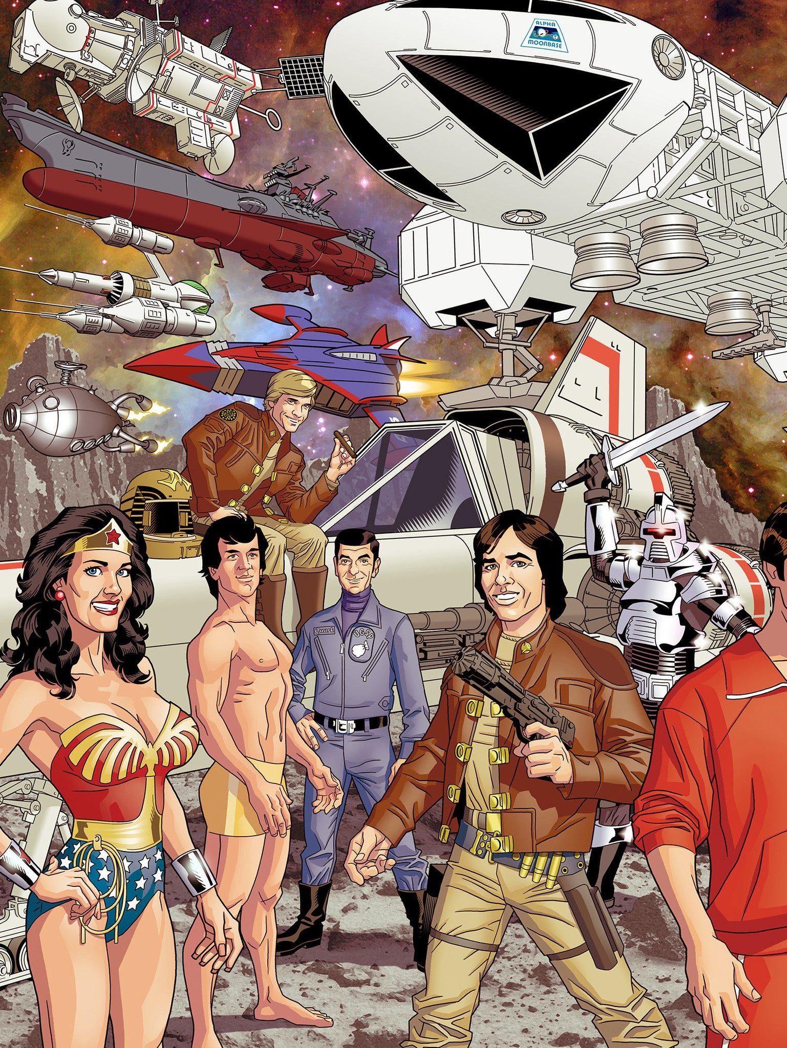 Televisions Sci Fi Superheroes Of The 70s Dustyabell