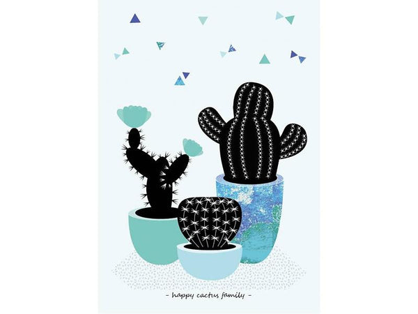 SPARKLING PAPER Happy cactus family
