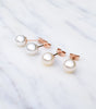 9ct Rose Gold Pearl Stud Earrings, Katherine Swaine
