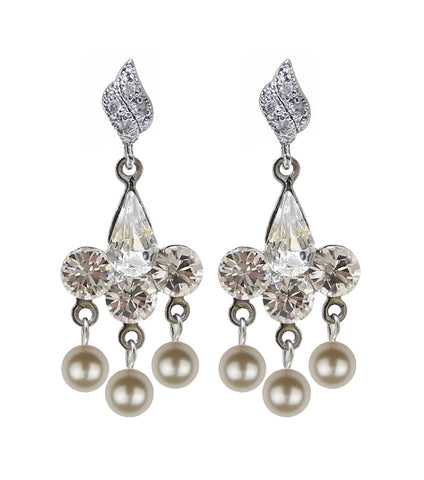 Antique Style Rhinestone Chandelier Earrings, earrings - Katherine Swaine