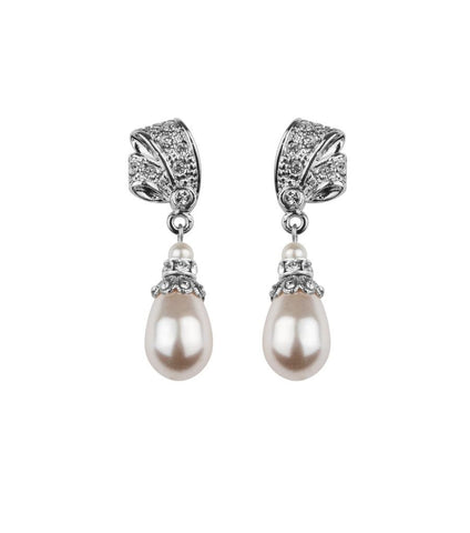 Antique Inspired Pearl Drop Earrings, earrings - Katherine Swaine
