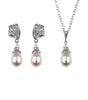 Antique Inspired Pearl Drop Earring and Necklace Set, Jewellery Sets - Katherine Swaine