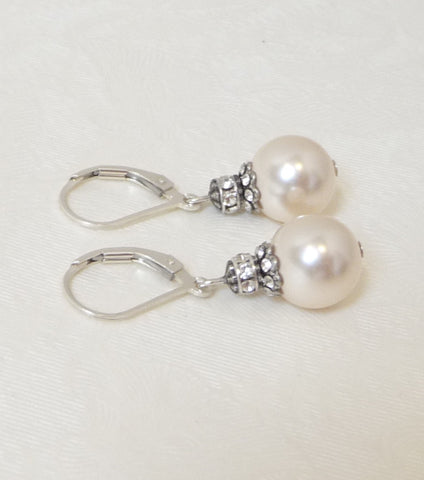 Silver Embellished Earrings, earrings - Katherine Swaine