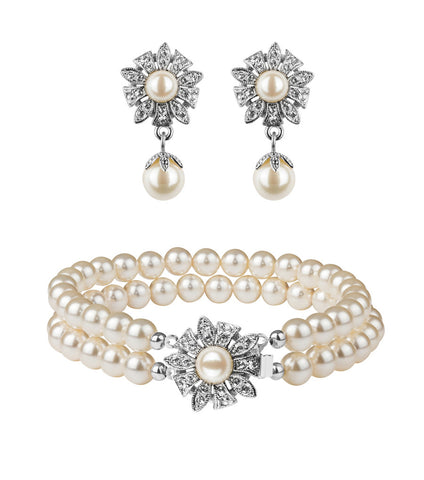 Antique Style Flower Earring and Bracelet Set, Jewellery Sets - Katherine Swaine