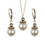 Antique Style Gold Leverback Earring and Necklace Set, Jewellery Sets - Katherine Swaine