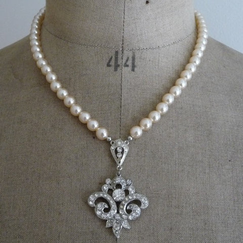 Art Deco Paste Necklace *SOLD*, Necklace - Katherine Swaine
