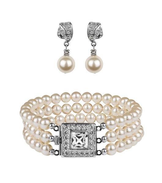 Art Deco Inspired Bracelet and Earring Set, Jewellery Sets - Katherine Swaine