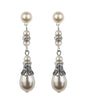 Crystal Filigree And Pearl Long Drop Earrings, earrings - Katherine Swaine